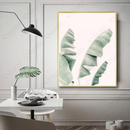 Pale Green Banana Leaves
