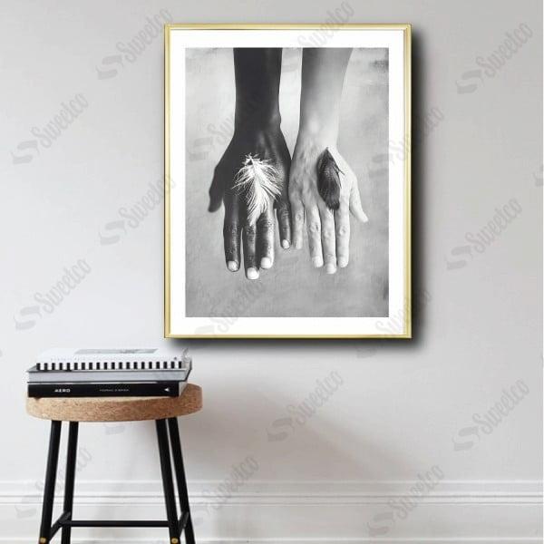 Black & White Hands XL