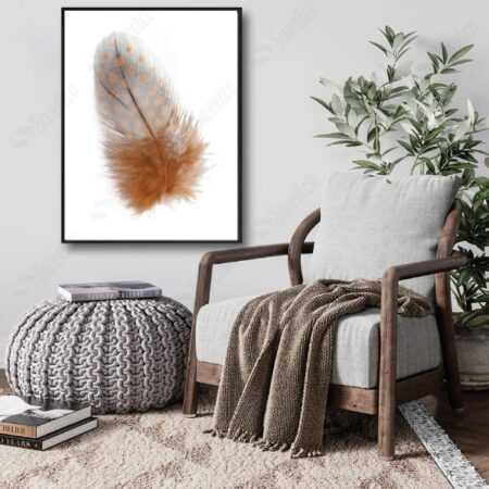 BROWN FEATHER XL
