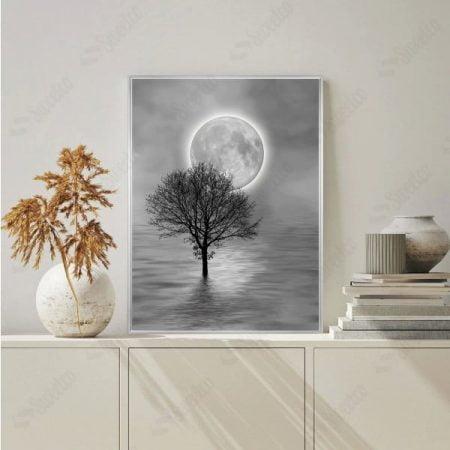 Full Moon and Tree XL