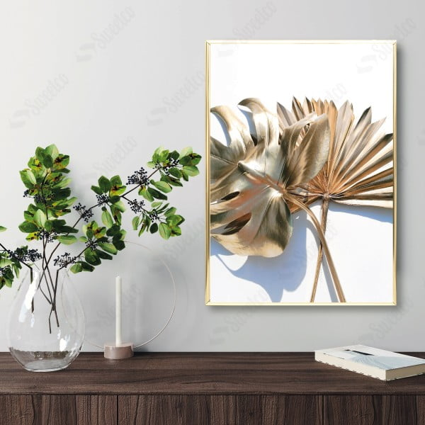 Golden Palm and Monstera