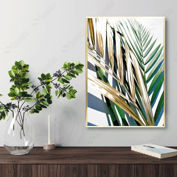 Golden and Green Palm No3