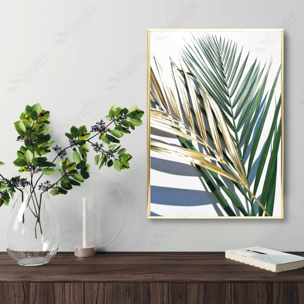 Golden and Green Palm No1