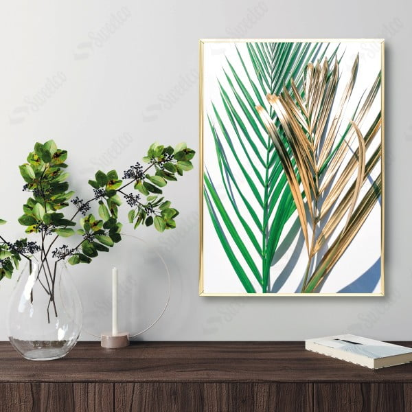 Golden and Green Palm No2