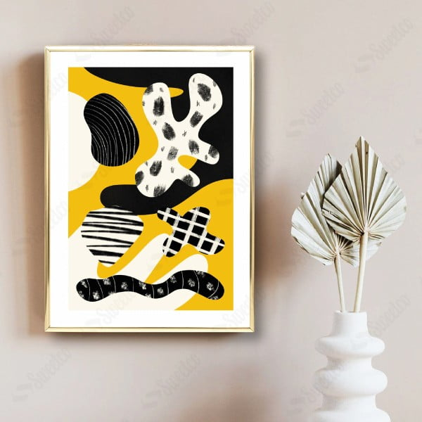 Yellow and Black Shapes