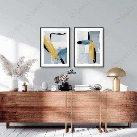 Gold Blue Stroke Set
