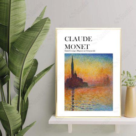CLAUDE MONET Saint-Georges Majeur au Crépuscule