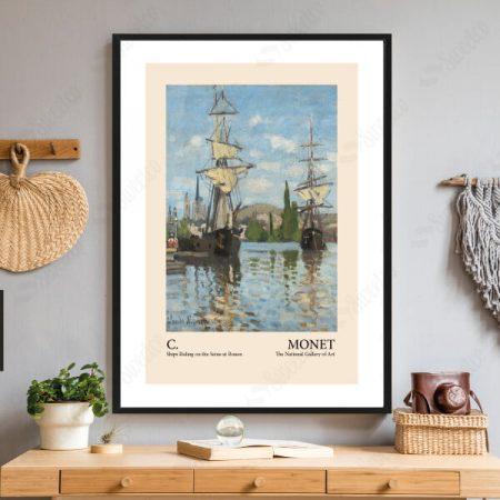 Claude Monet Ships Riding on the Seine at Rouen