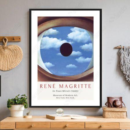 The False Mirror by René Magritte