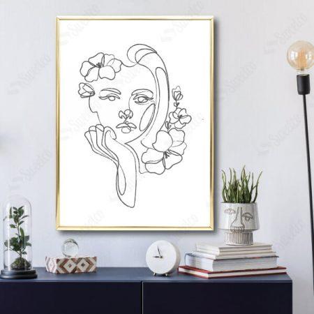 Line Art Girl No1