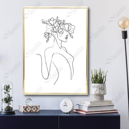 Line Art Girl No3