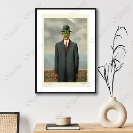 Rene Magritte / Man With An Apple Painting