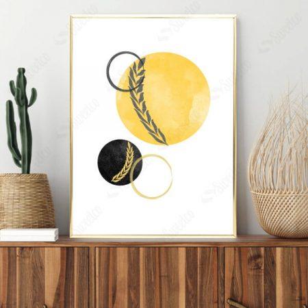 Yellow and Black Circles