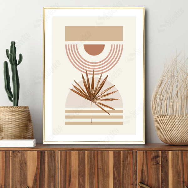 Soft Shapes and Gold Palm