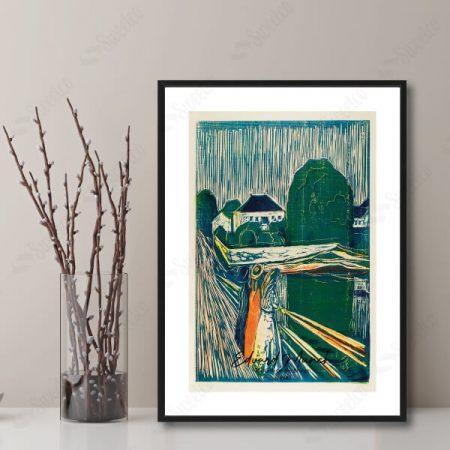 The Girls on the Bridge (1918) by Edvard Munch