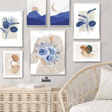Blue Flowers Set