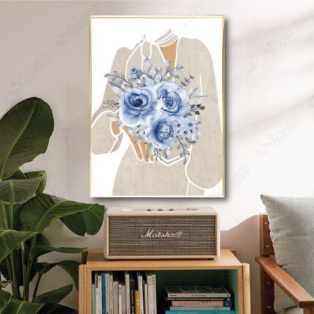 Blue Flowers Girl