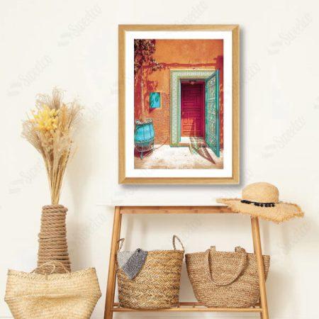 Orange Morocco Door