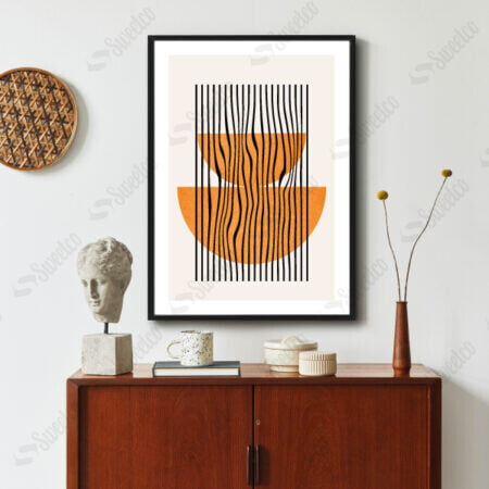 Orange Geometric Shape No2