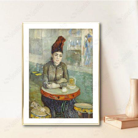 Agostina Segatori Sitting in the Café du Tambourin by Vincent van Gogh