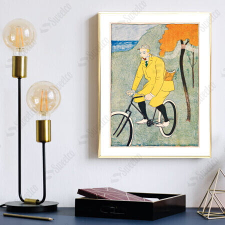 Man Riding Bicycle by Edward Penfield