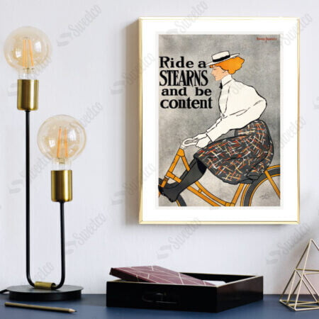 Ride a Stearns and Be Content by Edward Penfield