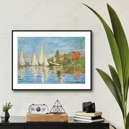 Regattas at Argenteuil 1872 by Claude Monet