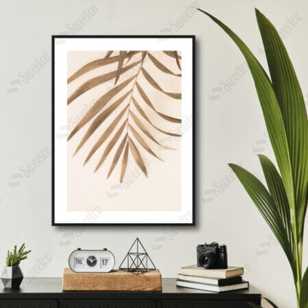 Beige Palm Leave