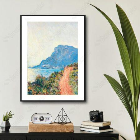 La Corniche near Monaco 1884 by Claude Monet