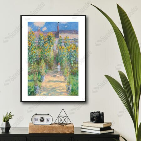 The Artist's Garden at Vétheuil 1881 by Claude Monet